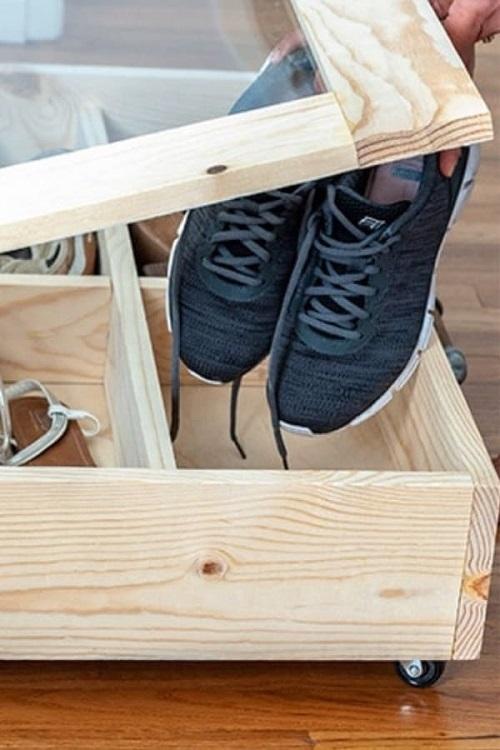 Organizador gaveta para sapatos.