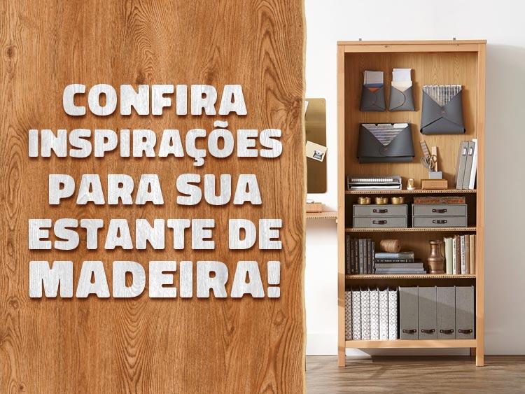 Confira ideias criativas para sua estante feita de madeira.