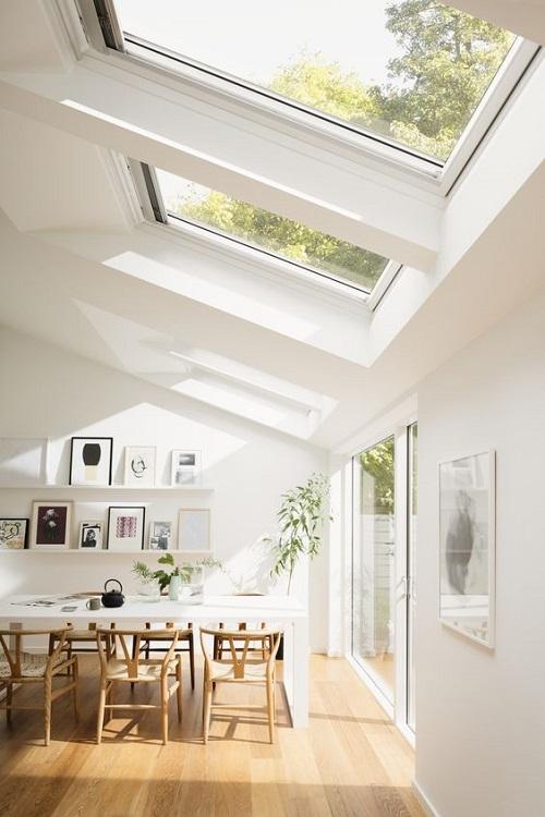 Ambiente em decorado em estilo contemporâneo.