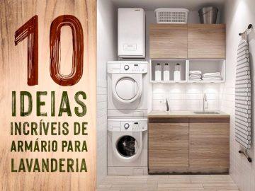 Confira 10 ideias incríveis de armário para lavanderia.