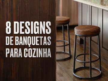 8 designs de banquetas para cozinha.