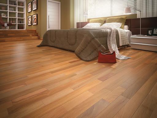 Assoalho de madeira teca, madeira de reflorestamento de mais alto valor.