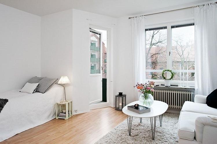 A decoração minimalista é uma ideia boa especialmente para apartamento pequeno.