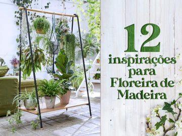 12 inspirações para floreira de madeira.